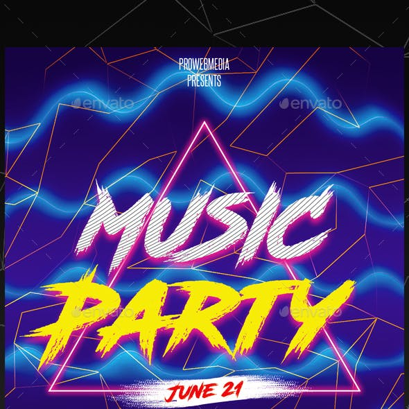 Energy Party Flyer Template
