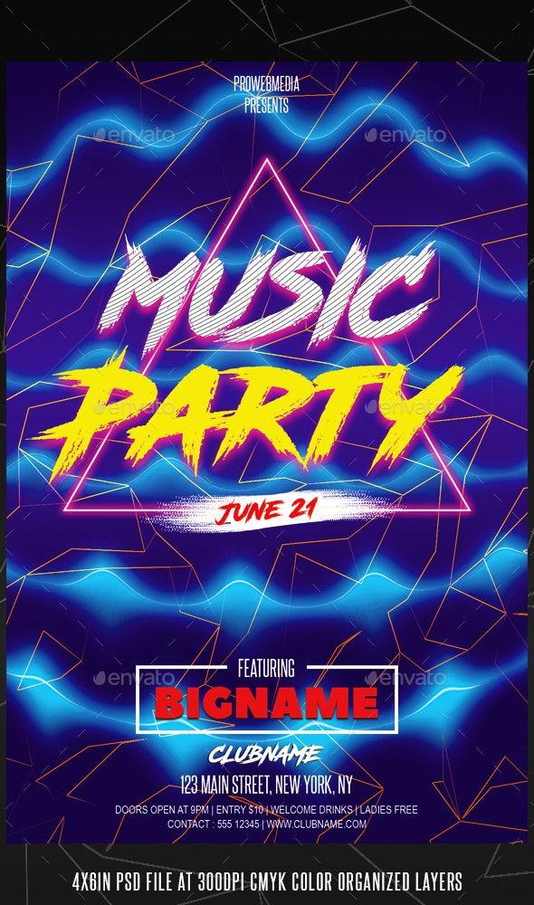 Energy Party Flyer Template - Events Flyers