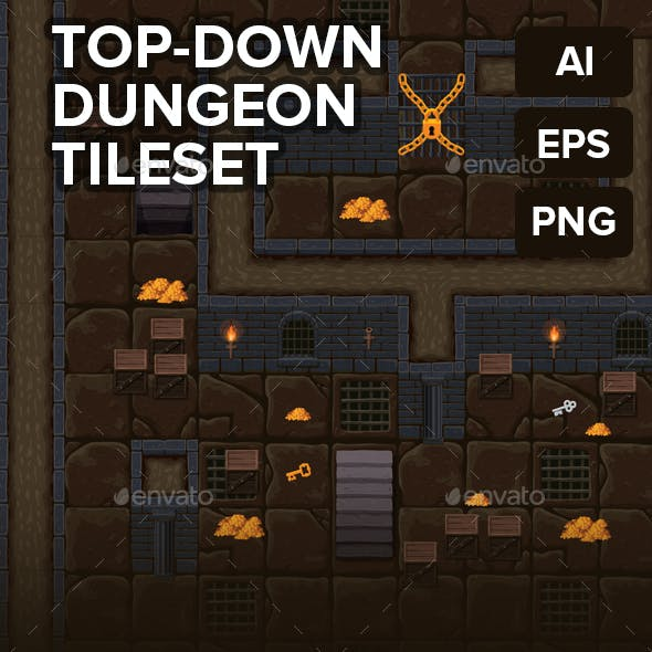 Top-Down Dungeon RPG Tileset