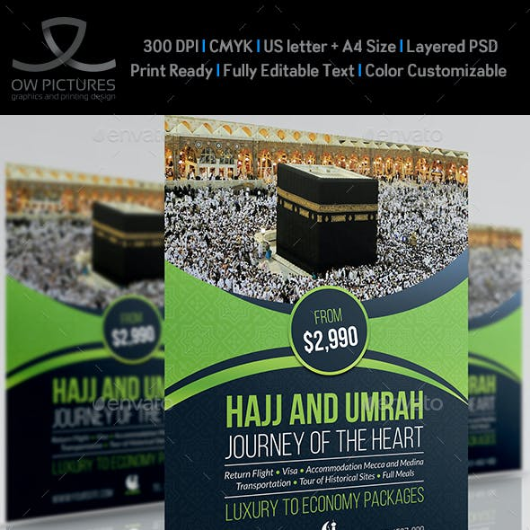 Hajj and Umrah Flyer Template