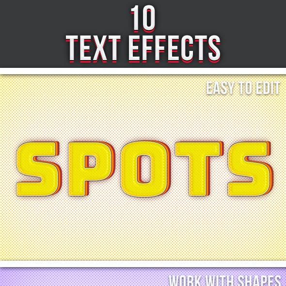 Spot Text Effects