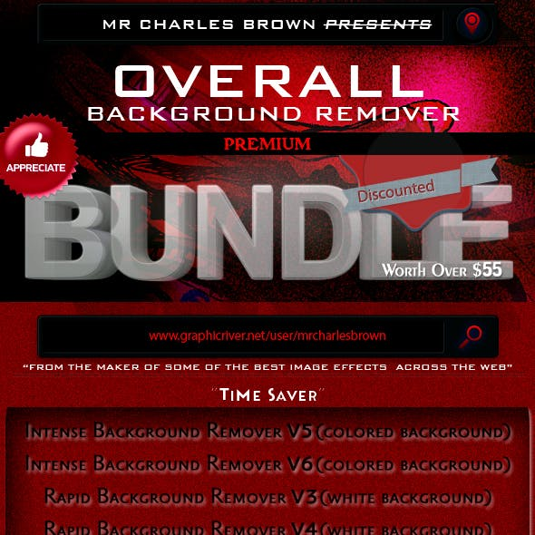 Overall Background Remover Charles Brown's Bundle