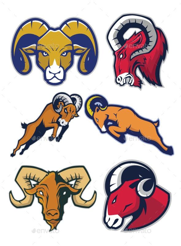 Ram Mascot Logo - Animals Characters