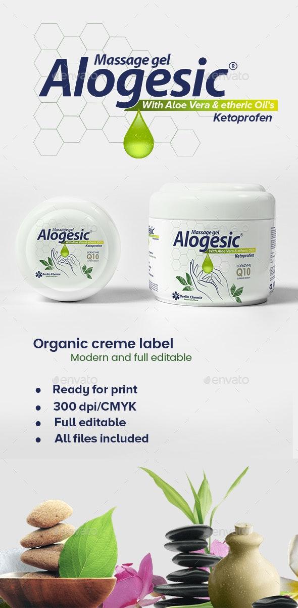 Organic Cream label template - Packaging Print Templates