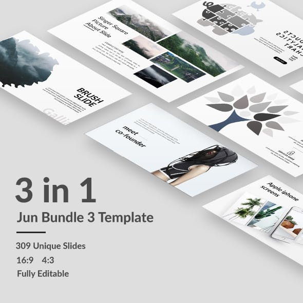 Jun Bundle 3 - Minimal Powerpoint Template