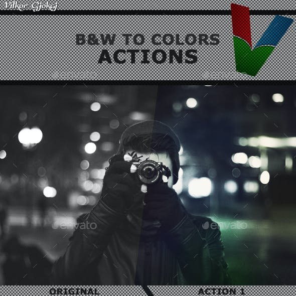 Black & White to Colors PSD Files