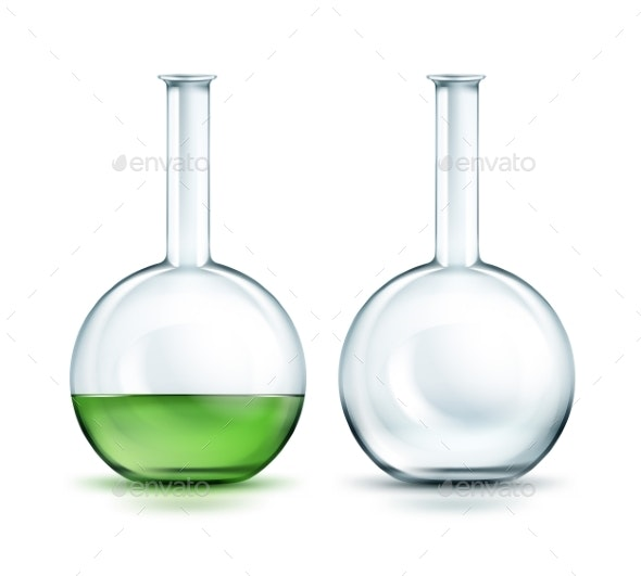 Glass Laboratory Flasks - Miscellaneous Vectors
