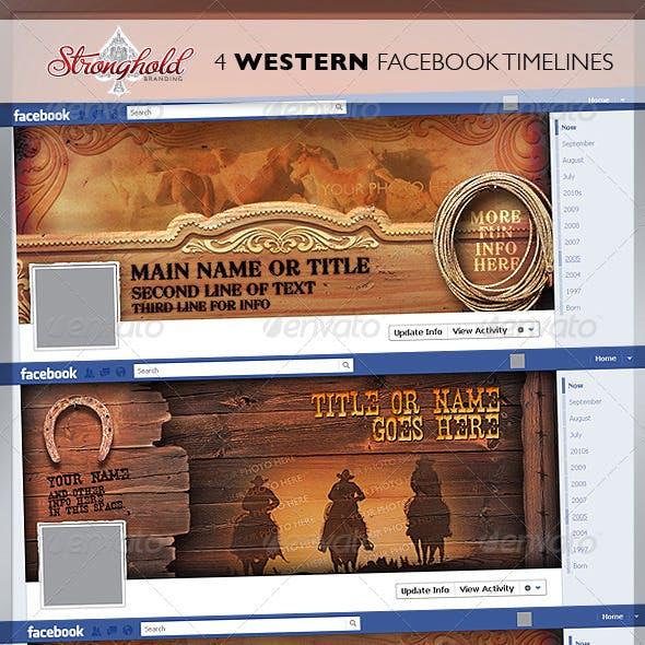 4 Western Vintage Facebook Timelines