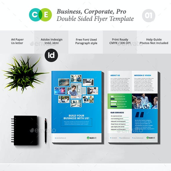 Clean Corporate Pro Double Sided Flyer V01