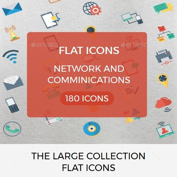 Network and Comminications Flat icon