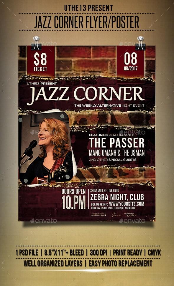 Jazz Corner Flyers/Poster - Events Flyers