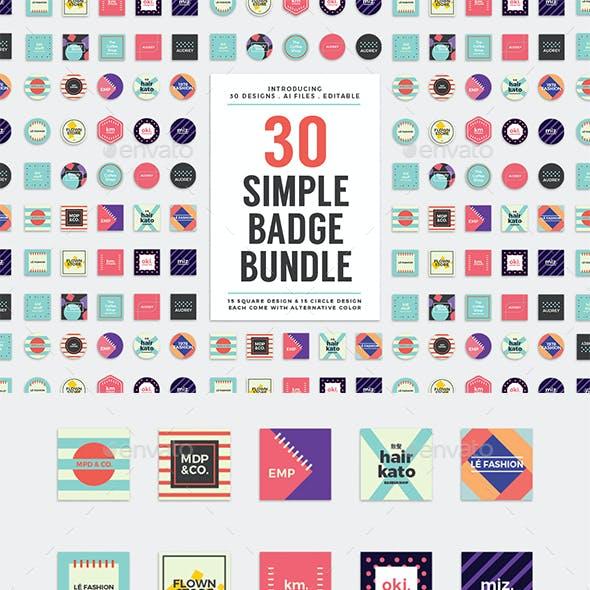 30 Simple Badge Bundle