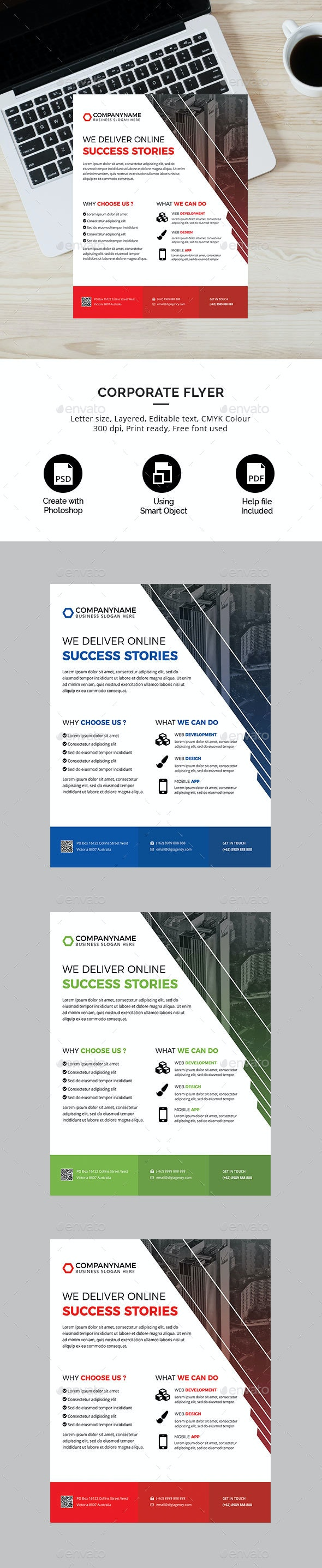 Digital Agency or Corporate Flyer - Corporate Flyers