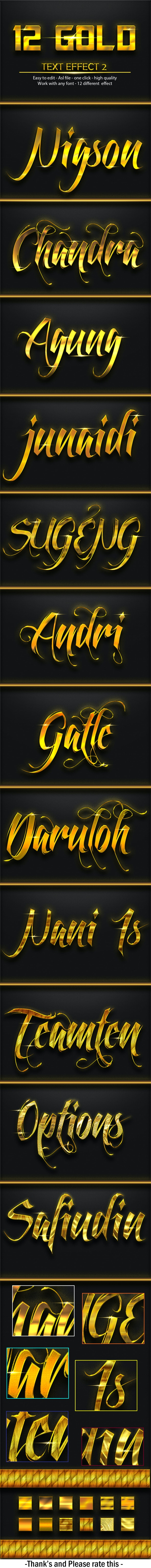 12 Gold Effect 2 - Text Effects Styles