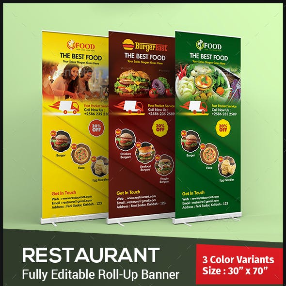 Restaurant Roll Up Banner - Signage