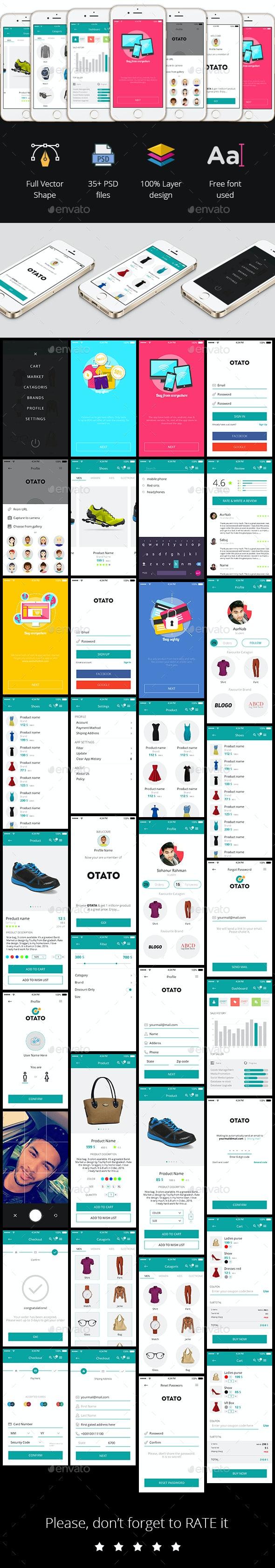 OTATO Shopping App UI - User Interfaces Web Elements