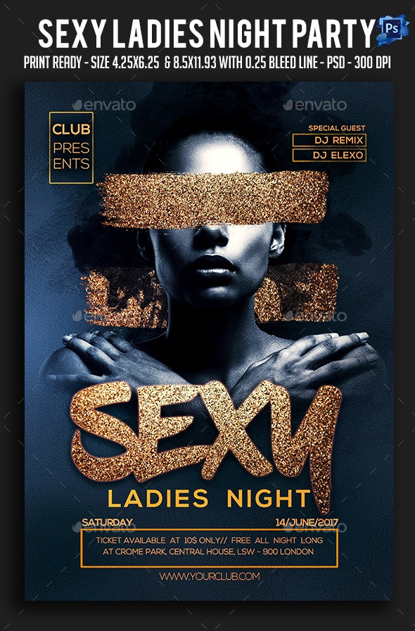 Sexy Ladies Night Party Flyer - Clubs & Parties Events