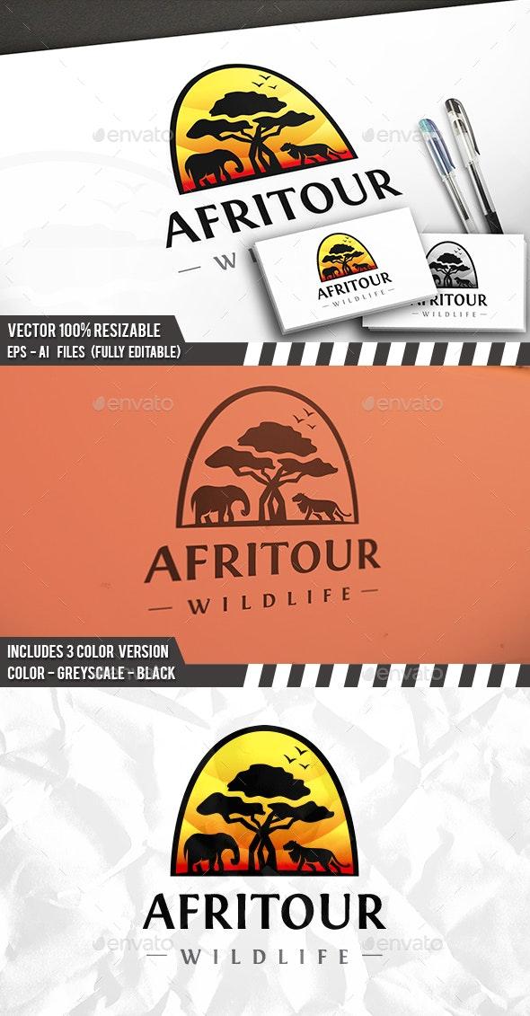 Africa Landscape Logo - Animals Logo Templates