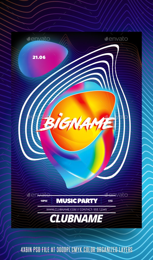 Colorful Party Flyer Template - Events Flyers