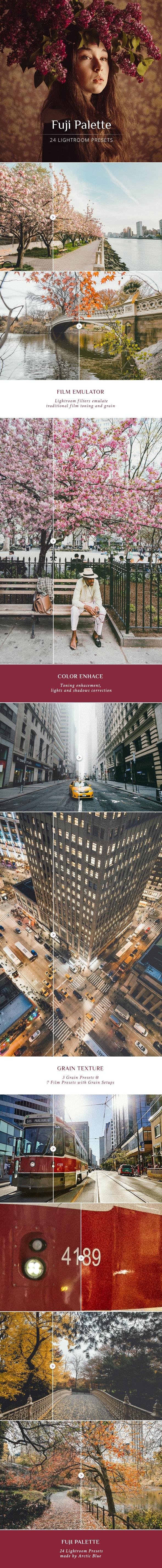 Fuji Palette Lightroom Presets - Film Lightroom Presets