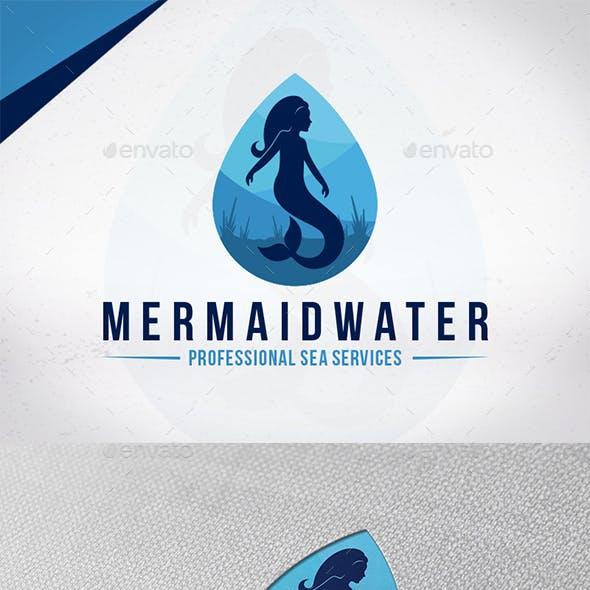 Mermaid Water Logo Template