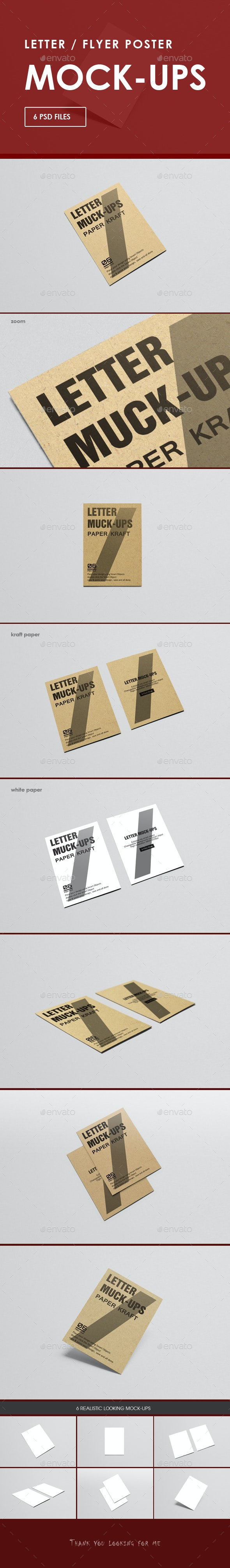 A4 Letter - A4 Flyer Poster Mock-Up - Posters Print