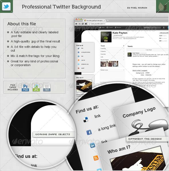 Professional Tag Twitter BG - Miscellaneous Web Elements