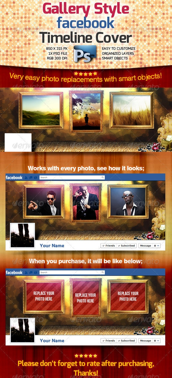Gallery Style Facebook Timeline Cover - Facebook Timeline Covers Social Media