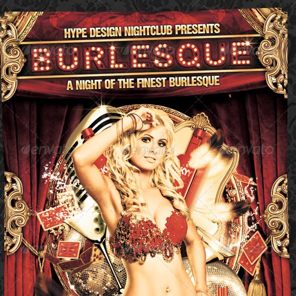 Burlesque Flyer Template