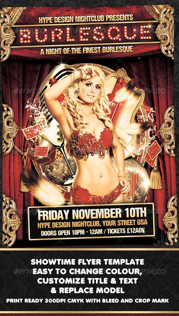 Burlesque Flyer Template - Clubs & Parties Events