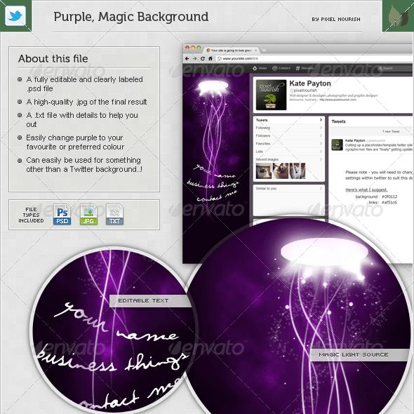 Purple, Magic Twitter BG