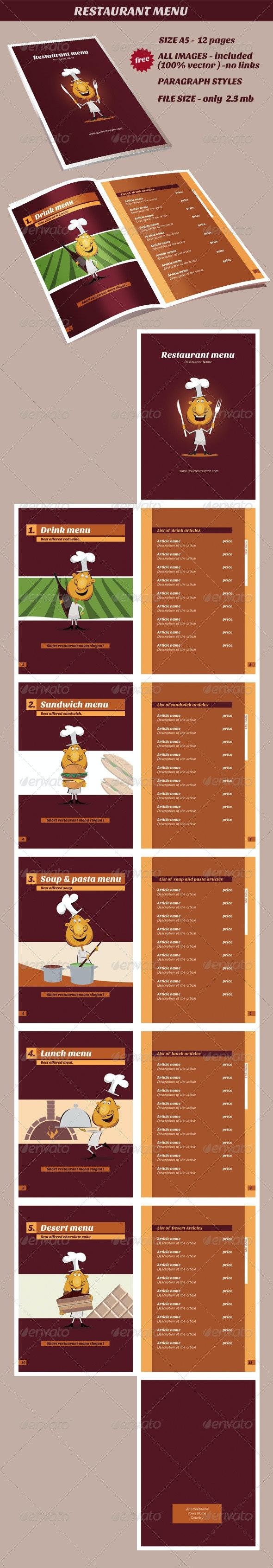Restaurant Menu - Corporate Brochures