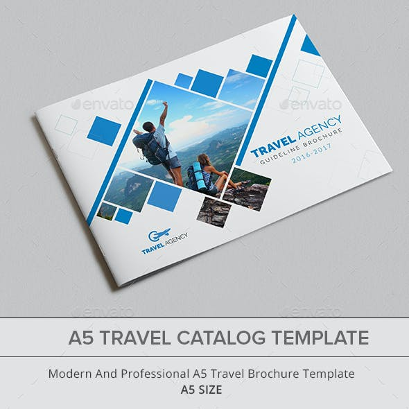 A5 Travel Catalog Template