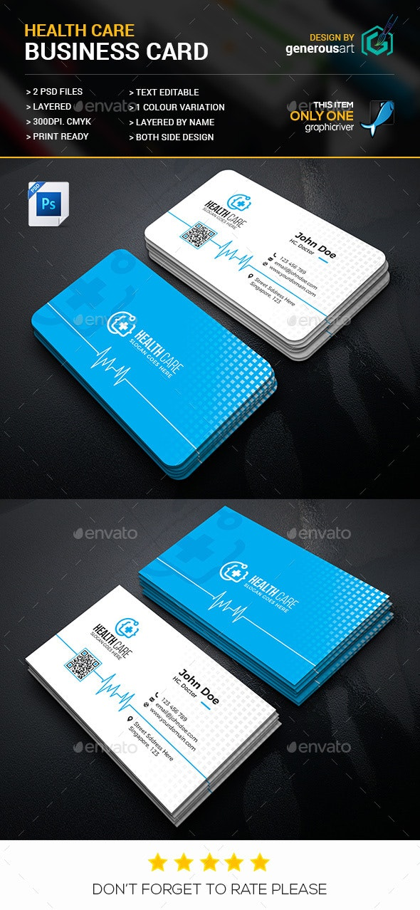 Health Care Business Card - Business Cards Print Templates