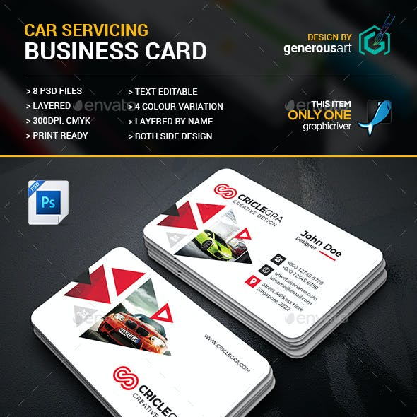 Car Servicing Business Card