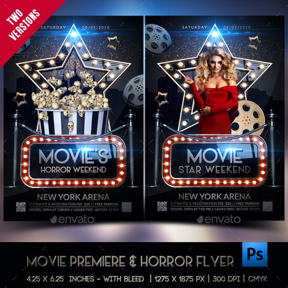 Premiere Movie Star & Horror Movie Template