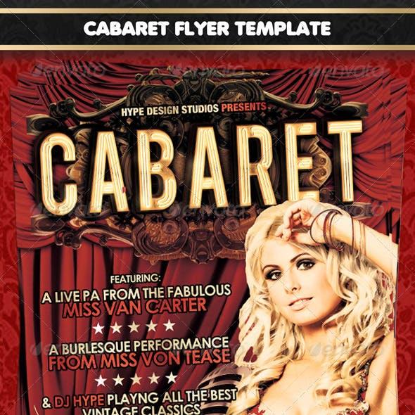 Cabaret Flyer template