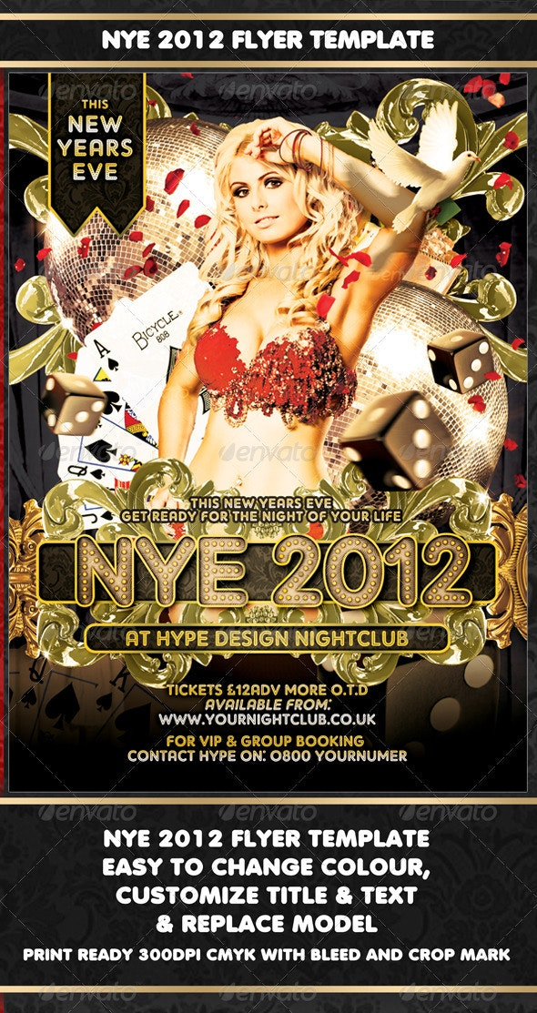 NYE 2012 Flyer Template - Clubs & Parties Events