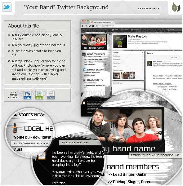 Your Band - Twitter BG - Miscellaneous Web Elements