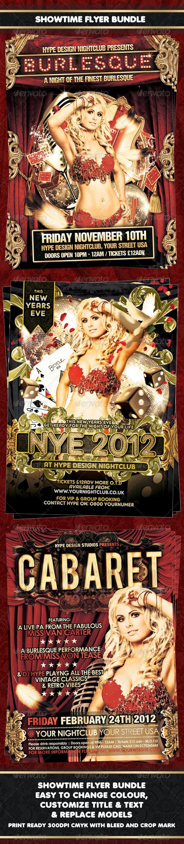 Showtime Flyer Bundle - Clubs & Parties Events