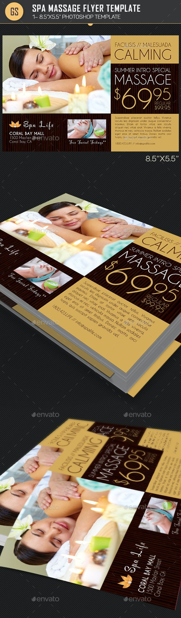 Spa Massage Flyer Template - Corporate Flyers