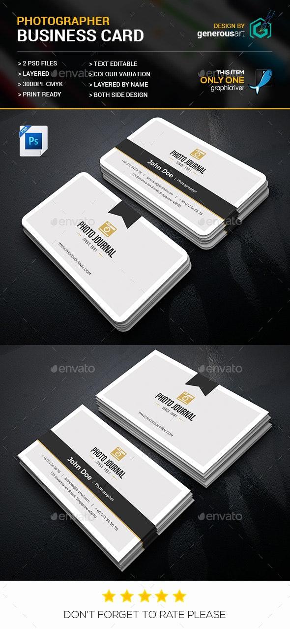 Photographer Business Card - Business Cards Print Templates