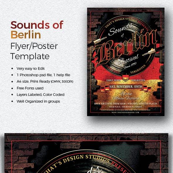 Sounds of Berlin Flyer Template