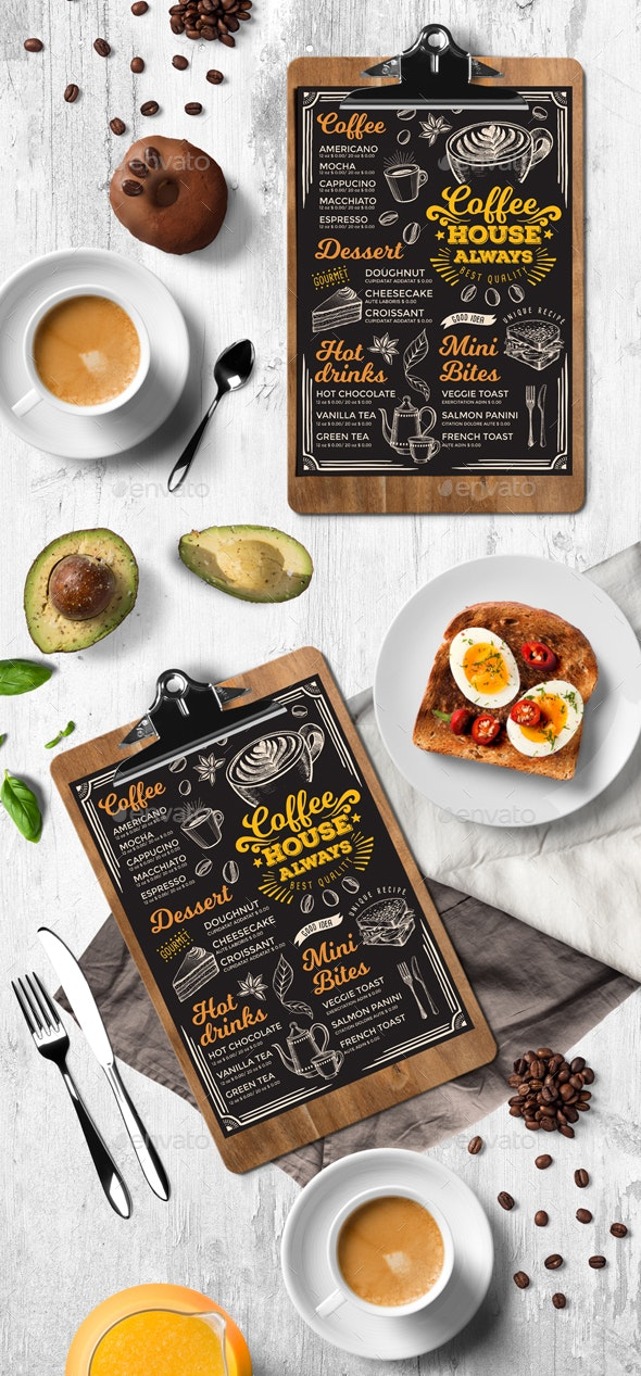 Coffee Menu Template - Food Menus Print Templates