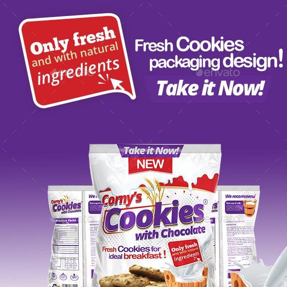 Cookie Packaging Template
