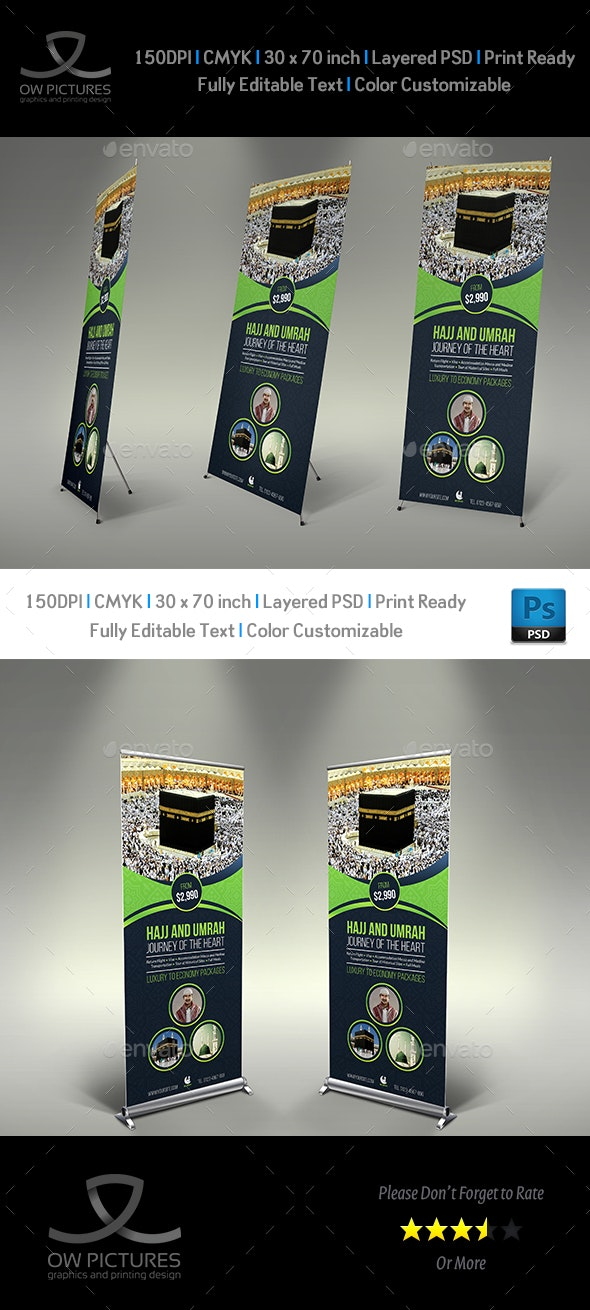 Hajj and Umrah Signage Banner Roll Up Template - Signage Print Templates