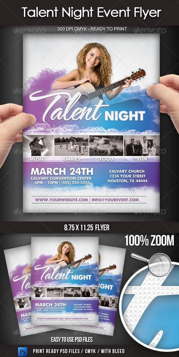 Talent Show Event Flyer - Concerts Events