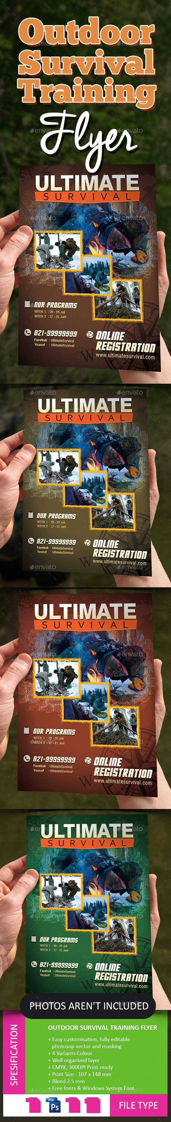 Outdoor Survival Training Flyer - Holidays Events