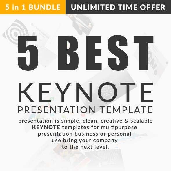 5 Bundle Pack Keynote Template