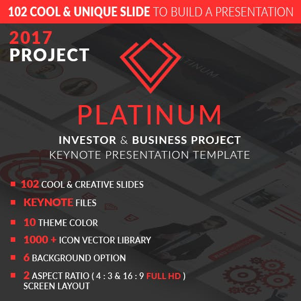 PLATINUM 2017 Project Business & Investor Presentation Template